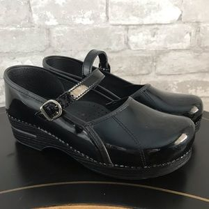 Dansko Marcelle Black Patent Leather MaryJane Clog